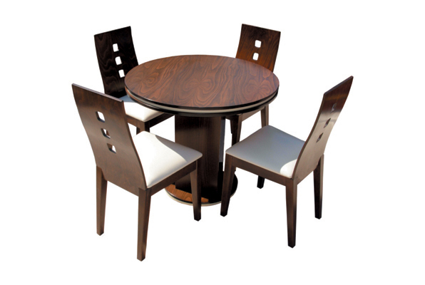 Маса Дъблин с вложка, стол Капри - светъл