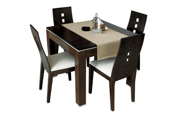 Маса Дъблин с вложка, стол Капри - тъмен
