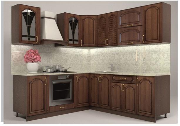 Кухня ОРЕХ 2М - без плот